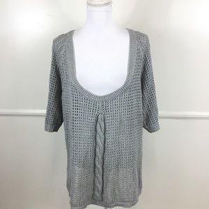 Lane Bryant Gray Eyelet Sweater Womens Plus 14/16